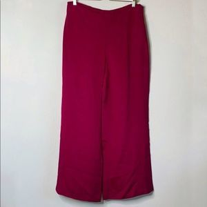 Eileen Fisher 100% Silk Pink Wide-Leg Pants